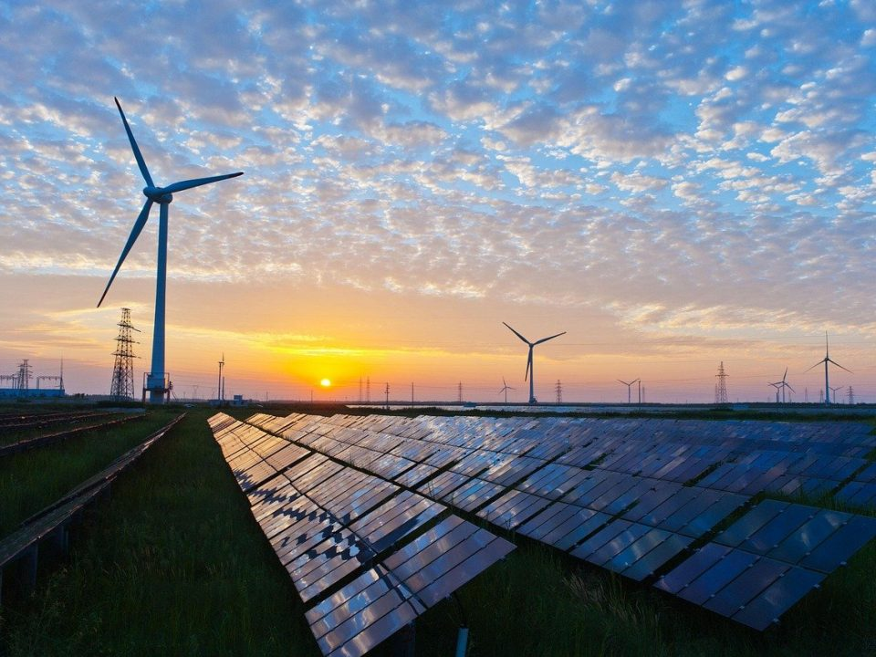 photovoltaic system and wind turbines